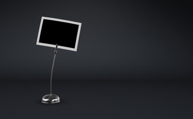 Fotoclip Silber vor schwarzem Hintergrund 1