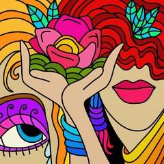Foto auf AluDibond Klassische Abstraktion fiore tra le mani