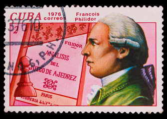 CUBA - CIRCA 1976: a stamp printed by Cuba, shows Francois Phili