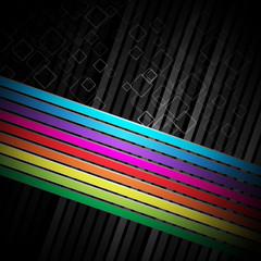 Rainbow colorful advertisement