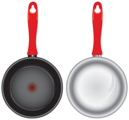 Set of saucepans
