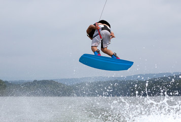 Wakeboarding Airborne 360 Degree Rotation Wall mural