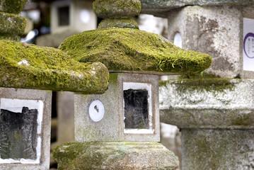 Stone lanterns, Nara, Japan