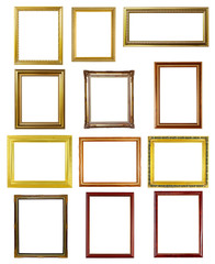 12 picture frame on white background