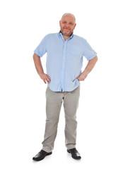 Vollschlanker Mann mittleren Alters