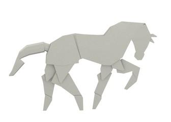 3d render of origami