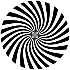 Foto op Canvas Spiraal spirale noire