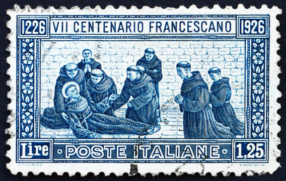 Postage stamp Italy 1926 St. Francis' Death
