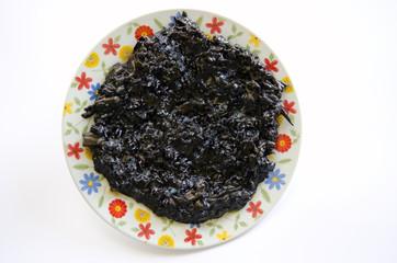 Piatto riso alla seppia nera