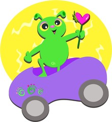 Alien Vehicle with Heart