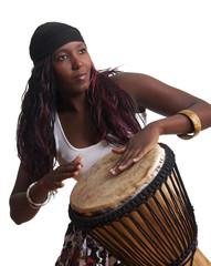 African Djembe Drummer