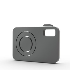 3d Icon Kamera schwarz