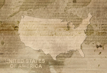 usa map old style