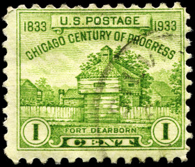 USA - CIRCA 1933 Fort Dearborn