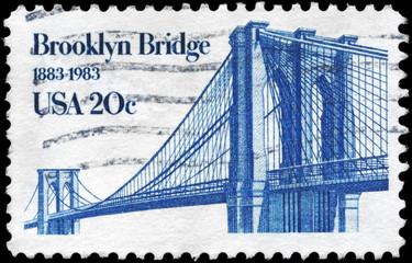 USA - CIRCA 1983 Brooklyn Bridge