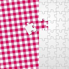 puzzle auf tischdecke II