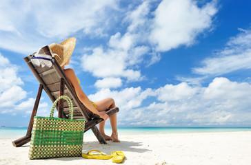 Summer beach women