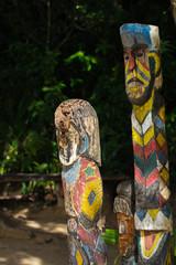 Moken totem pole on Mai Ngam Beach at Ko Surin National Park
