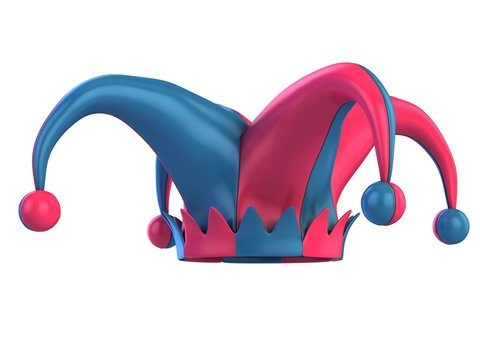 jester hat 3d illustration