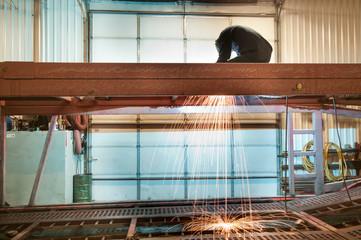 Industrial trade work welder