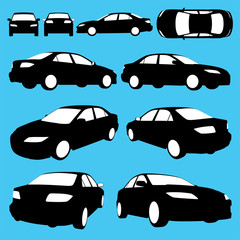 vector silhouette - automobile