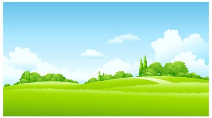 In de dag Lime groen Green Landscape