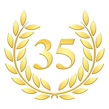 Lauriers 35 ans or en relief