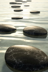 Wall Mural - step stones black