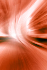 abstract zoom red