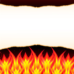 Abstract burn flame fire wall vector background
