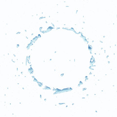 The abstract circle of the water. Isolated on white background