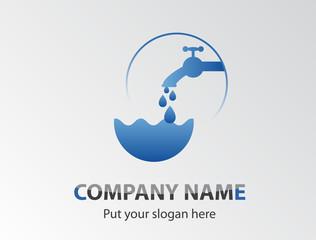 Wasserwerk - Sanitär Logo - Corporate Design - Trinkwasser
