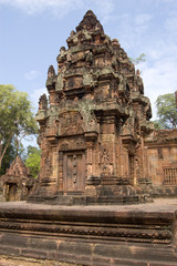 Prasat at Banteay Srei Temple, Angkor, Cambodia