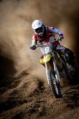 Wall Mural - motocross in accelerazione