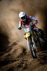 Fototapete - motocross in accelerazione