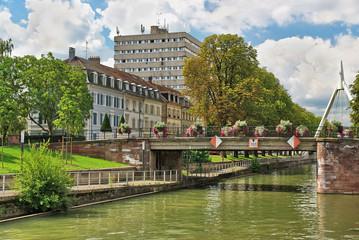 Fotobehang Canal de Mulhouse