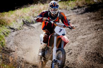 Fototapete - rider in moto