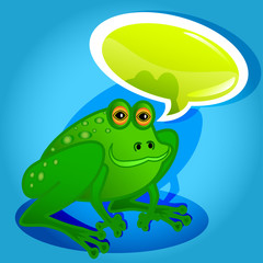 Frog with speech bubble