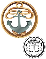 Rope and anchor emblem