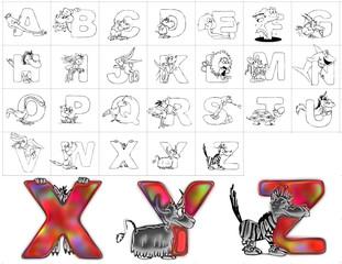 abc alphabet background zoo design xyz