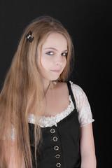 girl with a long fair hair