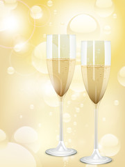 champagne and bubbles background