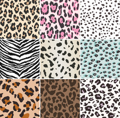 seamless animal skin textile