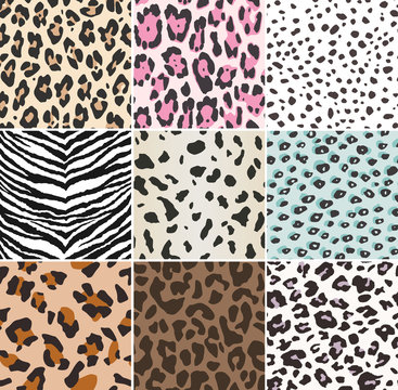 seamless animal skin textile