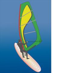 Windsurfer on the board