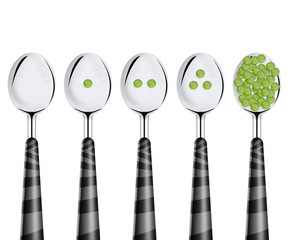 Peas and spoons
