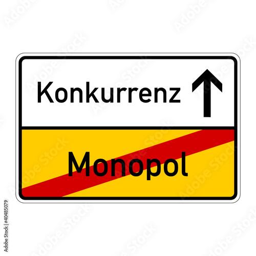 ortsschild monopol konkurrenz I\