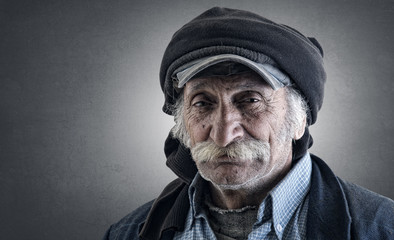old lebanese man with amazing expression and details