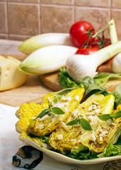 Dish of chicory