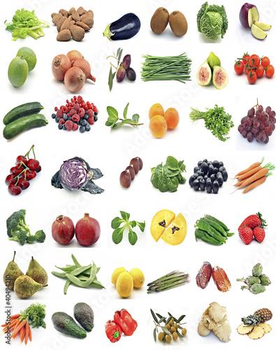 Mural de frutas y verduras imagens e fotos de stock - Semillas de frutas y verduras ...
